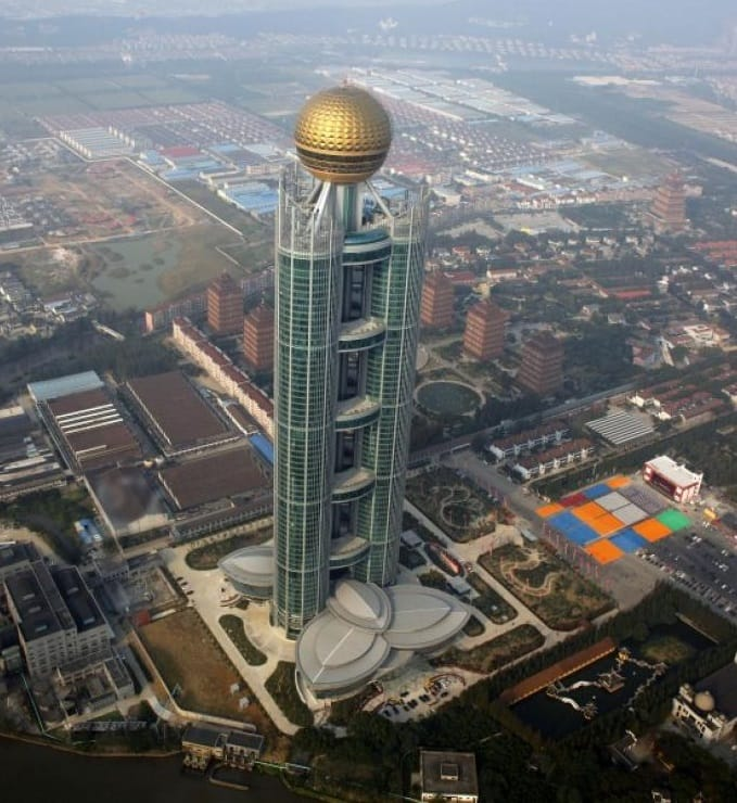 china skyscraper gold