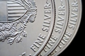 Close-Up Picture of SIlver Coins