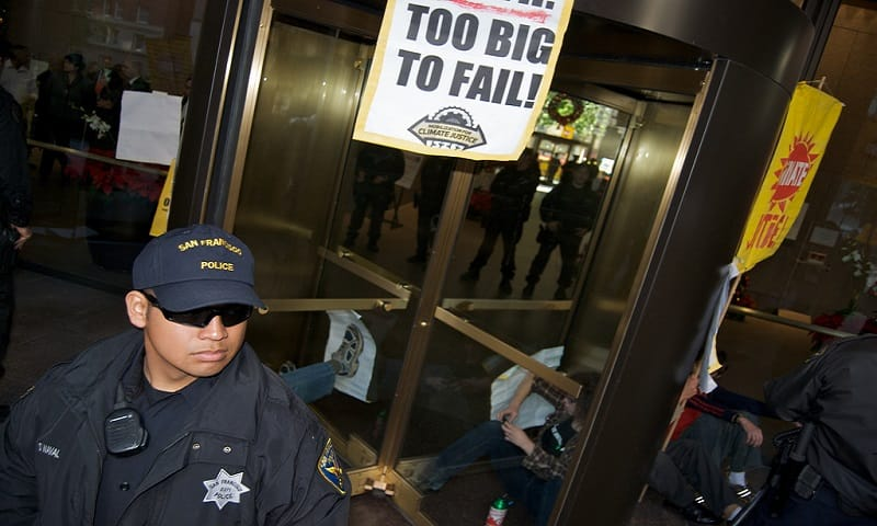 bank protests too big to fail
