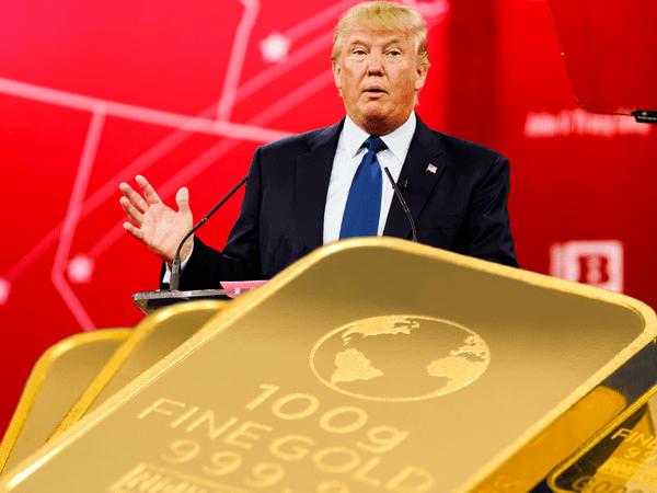 gold rallies on Trump's hardships