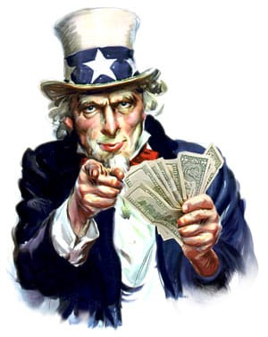 uncle sam government cash starved